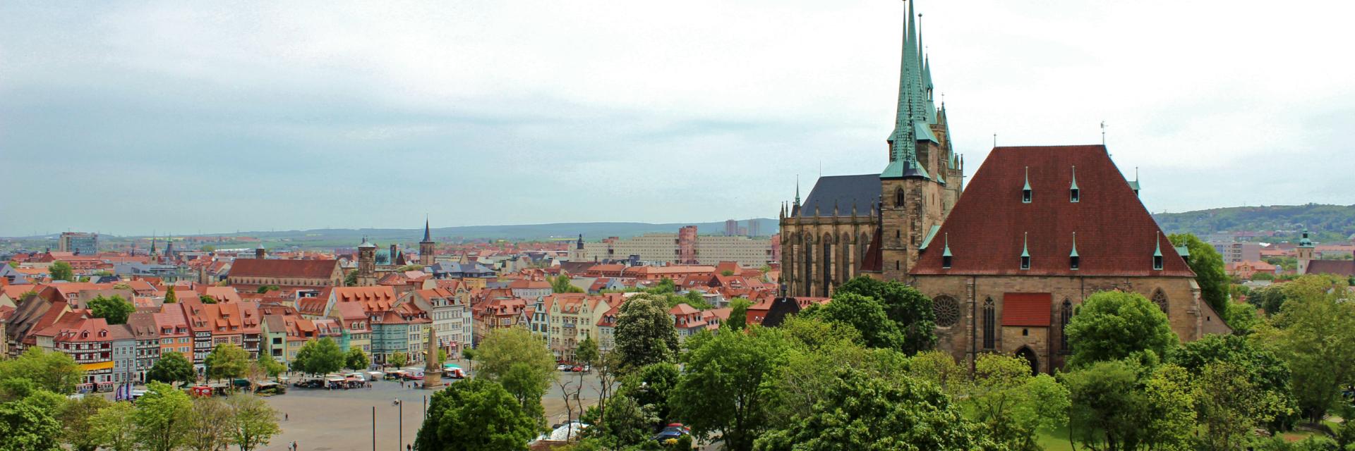 Blick vom Petersberg auf den Erfurter Dom